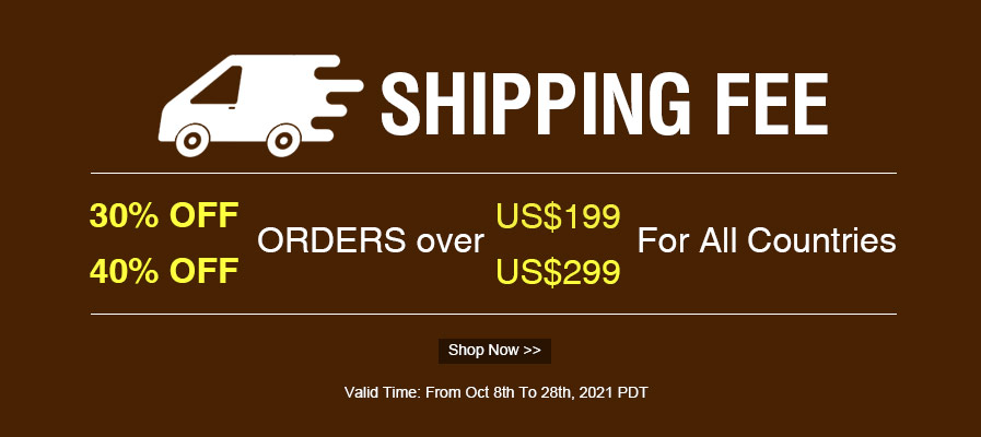 Shipping Fee 40% OFF
