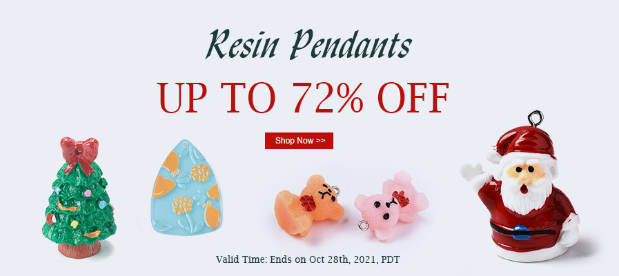 Resin Pendants UP TO 72% OFF
